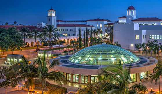 Aerial view of the San Diego State University campus. (Photo: Jim Brady)
