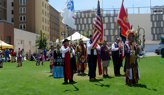 The SDSU Powwow honors and celebrates the cultures and traditions of native nations and indigenous communities.