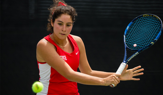 SDSU women's tennis player Paola Diaz de Regules