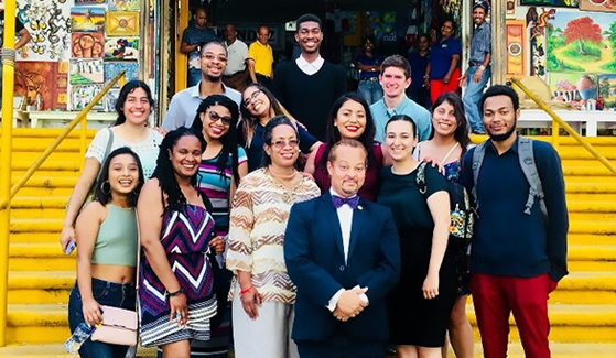 SDSU students in the Global Leadership and Diversity Identities program in Santo Domingo, Dominican Republic.