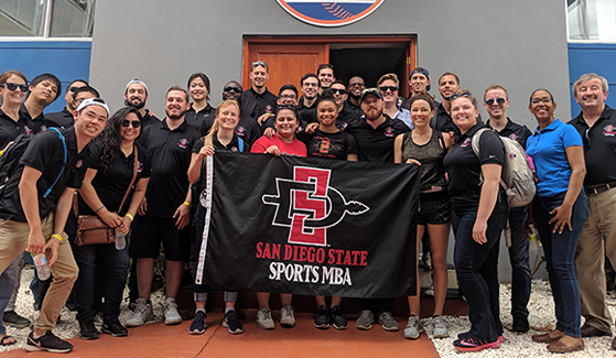 Students in SDSU's Sports Master of Business Administration program in the Dominican Republic.