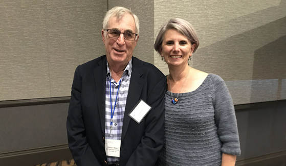 Ed Riley and Sarah Mattson (right) at the FASD Study Group annual meeting in San Diego.