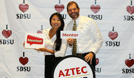 SDSU's Aztec Mentor Program connects students with alumni and professional volunteers.