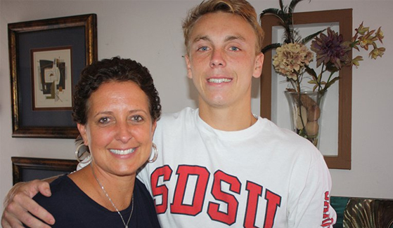 SDSU Director of Development Technology Tammy Blackburn (left) and Cameron McCullough