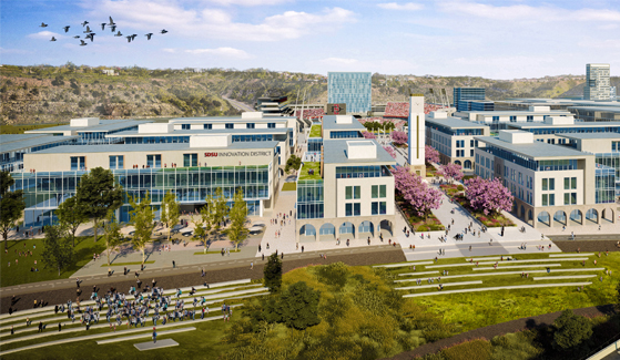 Rendering of SDSU Mission Valley's Innovation District