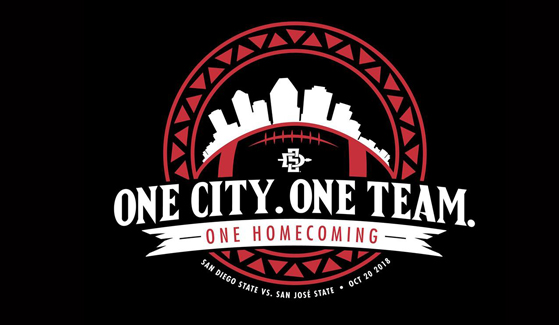 SDSU Homecoming 2018 logo