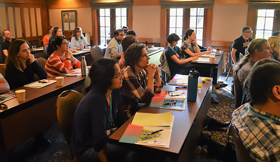 Participants at the Research, Excellence, and Diversity in Team Science (CREDITS) retreat in September.