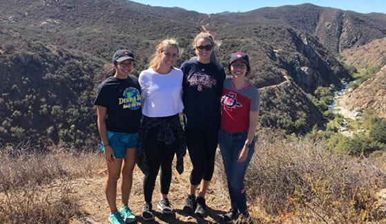 SDSU marketing students visit the Santa Margarita Ecological Reserve as part of the Sage Project-SMER collaboration. (Photo: SDSU Sage Project)