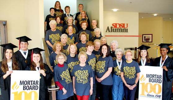 The SDSU chapter celebrates Mortar Board's 100th anniversary.