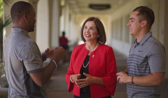Campus and community invited to SDSU President Adela de la Torre's inauguration.