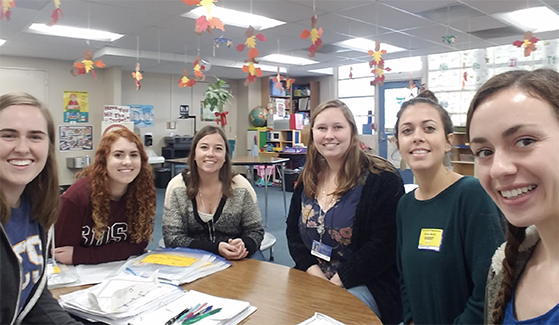 Teacher candidates at Casa de Oro Elementary School in Spring Valley