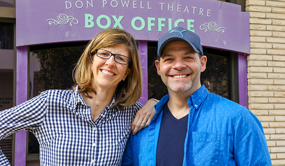 Christine Prugh and Bobby Cronin, writers of the SDSU Master of Fine Arts musical theater production