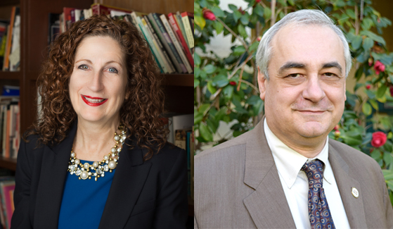Peggy Shannon will serve as the College of Professional Studies and Fine Arts Dean and Eugene Olevsky will now serve as the dean of the College of Engineering.