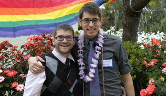 Ira Bauer-Spector (leftt) and husband, Nathan, at 2011 Lavender Graduation ceremony.