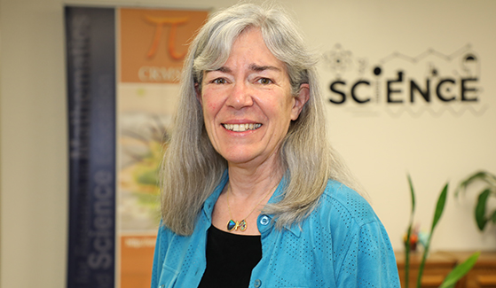 Kathy Williams, professor emerita of biology and a faculty member at the Center for Research in Mathematics and Science Education
