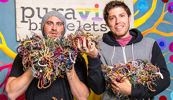 SDSU alumni and Pura Vida founders Griffin Thall (left) and Paul Goodman (right).