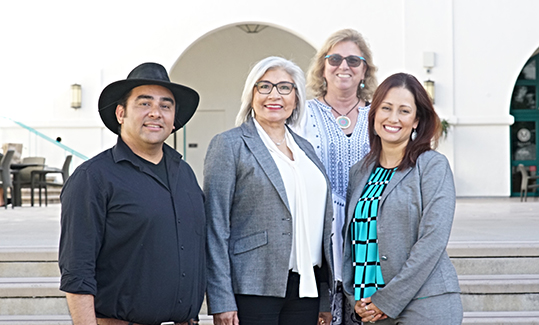 Dual Language and English Learner Education faculty members (from left) Saúl Maldonado Maldonado, Cristina Alfaro, Karen Cadiero-Kaplan and Sera Hernandez.