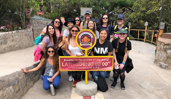 SDSU liberal studies students traveled abroad to Ecuador.