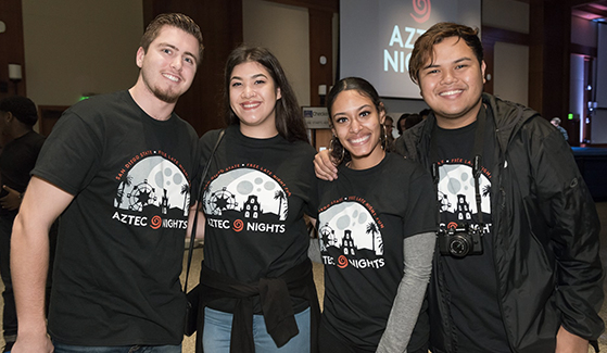 SDSU students at an Aztec Nights event