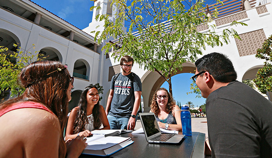 Students in Conrad Prebys Aztec Student Union