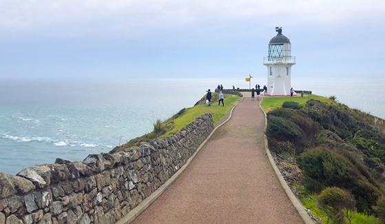 SDSU student Kiyomi Nomura visited the Cape Reinga Lighthouse while studying abroad in New Zealand.