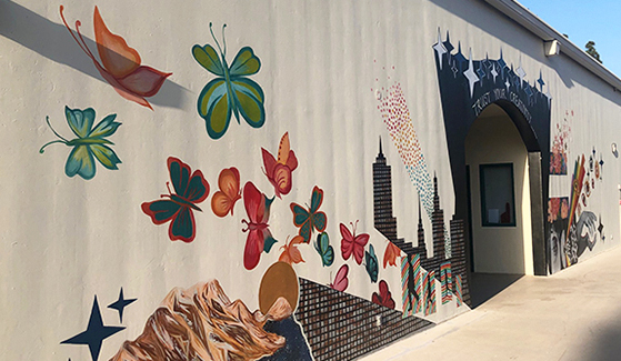 The mural is located on the fifth floor of the Art North building. (Photo: PSFA)