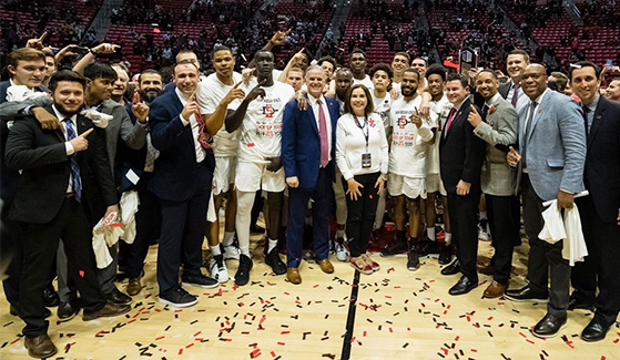SDSU remains the only undefeated team in NCAA Division I basketball. (Photo: GoAztecs.com)