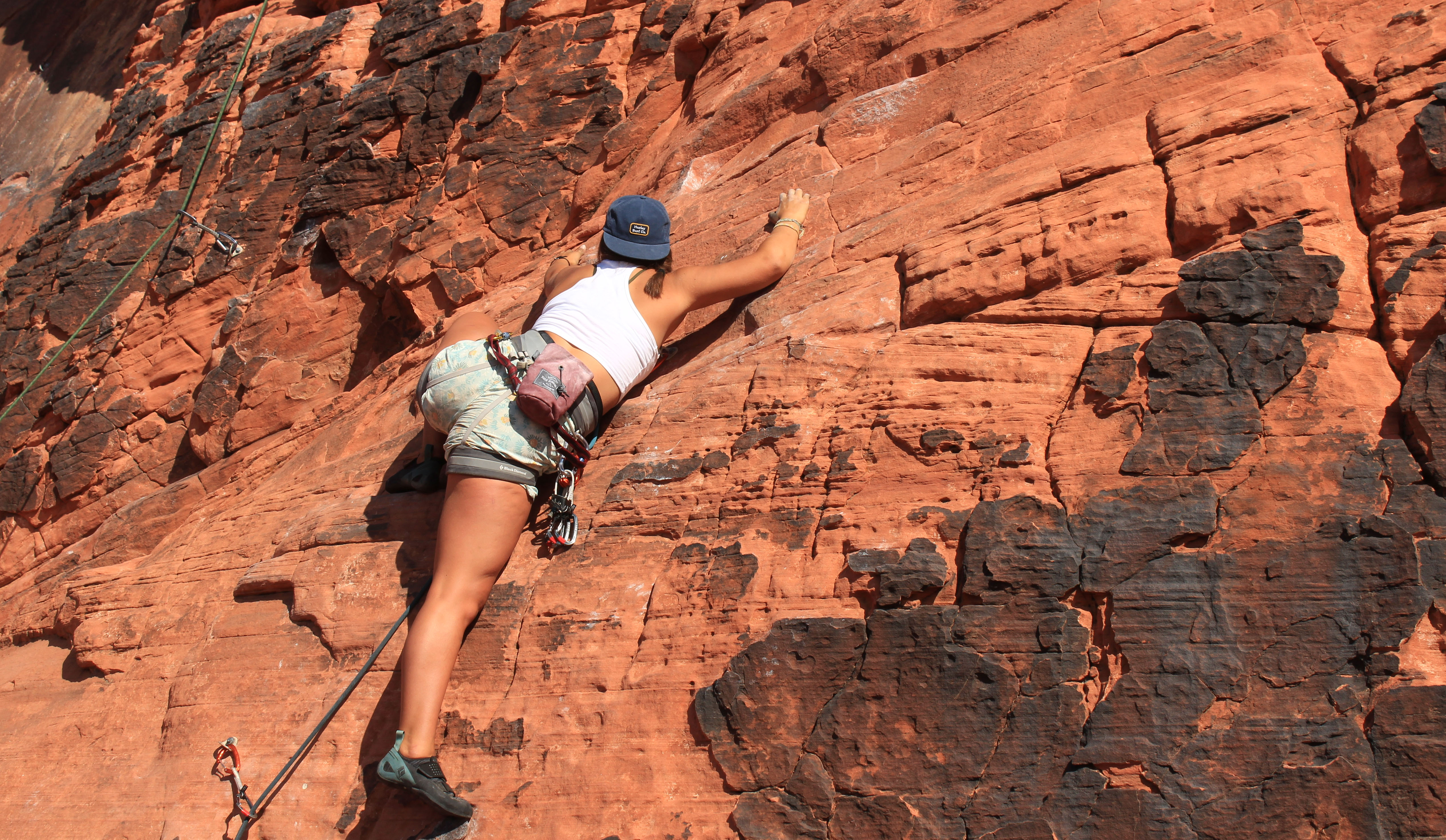 Eva Huber made time for rock climbing during her study abroad visit to Nepal.