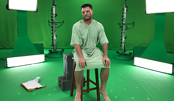 Holographic capture of the Virtual Standardized Patient simulation at Microsoft's Mixed Reality Capture Studios.