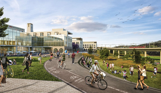 Rendering of SDSU Mission Valley (Photo courtesy: Schmidt Design Group)