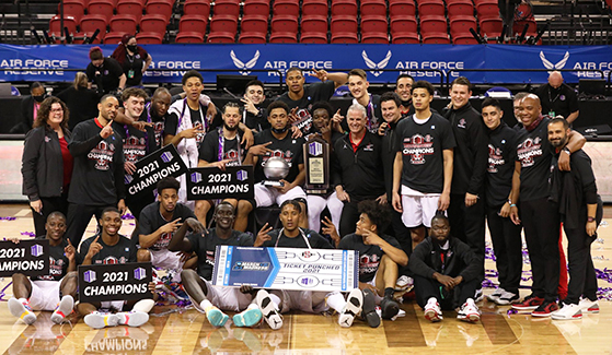 The Aztecs, who also won the regular-season championship, won their record sixth Mountain West Tournament. (Photo: GoAztecs.com)