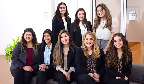 The SDSU Women in Business student organization (Photo taken prior to March 2020)