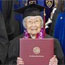 June Junko Kushino, age 89, poses with her degree