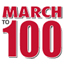 March to 100 graphic