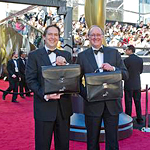 Rick Rosas, left, and Brad Oltmanns with Oscar®