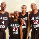 Four top Aztec 2010 basketball players