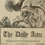 Santa and Daily Aztec masthead