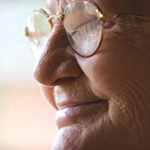 Close-up of Elderly Woman