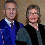 Honorary degree recipients J. Randall Jones, Nancy A. Marlin, and M. Boone Hellman (Courtesy California Western School of Law).