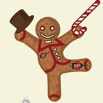 danging gingerbread man