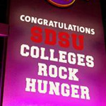 Colleges Rock Hunger bin