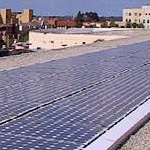 arial view of solar panels at the SDSU Children