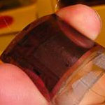 A 2-by-2 centimeter organic solar cell produced in SDSU MEMS Research Lab.