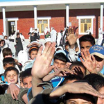 Children at the Rotary school in Jalalabad, Afghanistan