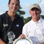 Jeremy Poincenot and his father and caddy, Lionel