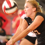 Aztec volleyball player Kristi Jackels