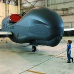 Northrop Grumman's High-Altitude Global Hawk Endurance Unmanned Aerial Vehicle. Courtesy Northrop Grumman