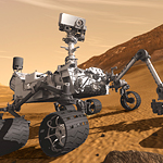 Image of the rover Curiosity