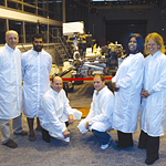 Aztecs inside the Mars testbed at NASA's Jet Propulsion Lab.