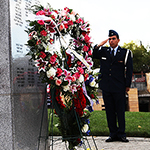 The memorial is a tribute to former SDSU students killed World War II, Korea, Vietnam, and now Afghanistan and Iraq.